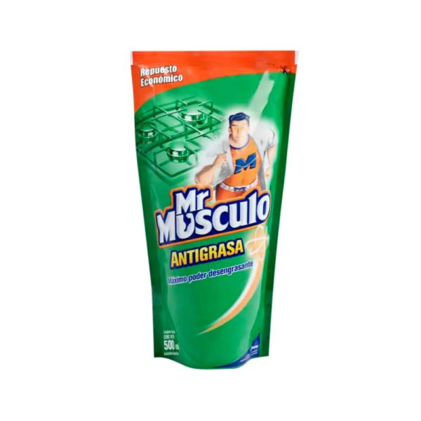 Mr Musculo Antigrasa Verde X 500Cc Doy Pack