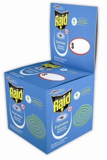 Raid Espirales Caja X12 Sobres X4 Esp.
