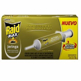 Raid Max Jeringa Cucarachas Gel 6 Gr