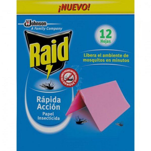 Raid Papel Insecticida Rapida Accion