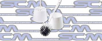 Escobilla De Inodoro con base blanca LARGE