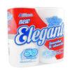 Pack de 4 unidades de papel higienico Elegante, rollos de 50 metros