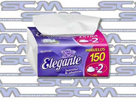 pañuelos descartables x150 elegante scm