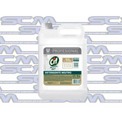 Cif Detergente Active Gel Neutro X5lts scm