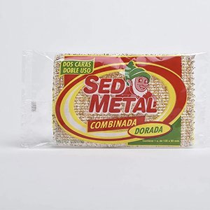 Esponja Doble Cara Plateada Sed Metal