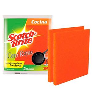 Fibra Esponja Naranja Cero Rayas x2U 3M